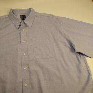 Jos. A. Bank Men's Blue Dress Shirt - 18.5 | 35